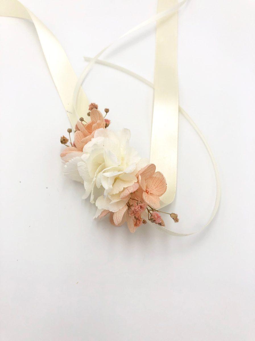 Bracelet de mariage en fleurs stabilisées Candi - ROmantique
