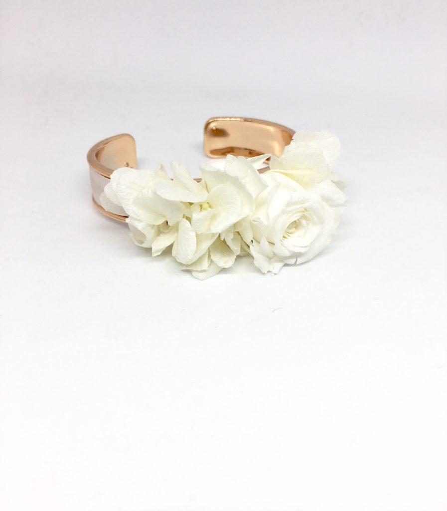 Bracelet jonc fleuri Béatrice pour demoiselles d'honneur