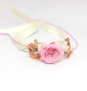 Bracelet pour demoiselles d'honneur Lima en rose stabilisée
