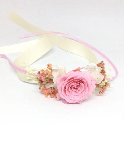 Bracelet de demoiselles d'honneur Lima en rose stabilisée