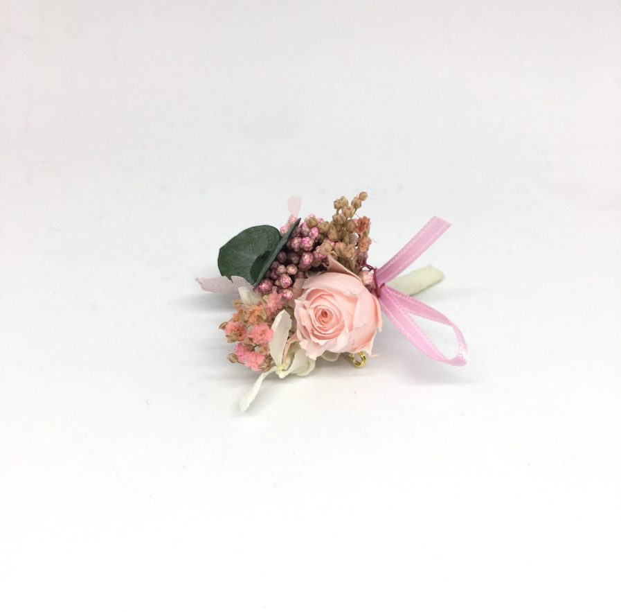 Boutonnière de marié Confetti en fleurs stabilisées - Accessoire du marié et des témoins