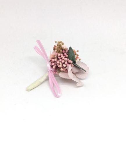Boutonnière de marié Confetti en fleurs stabilisées - Les Fleurs Dupont