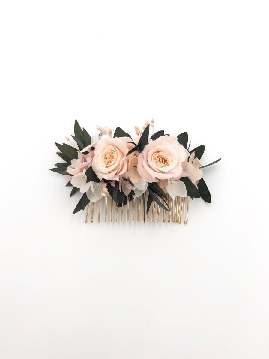 Peigne de fleurs Lima pour la mariée