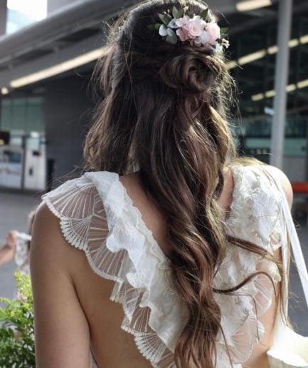 Peigne de fleurs stabilisées Lima - Mariée Charline