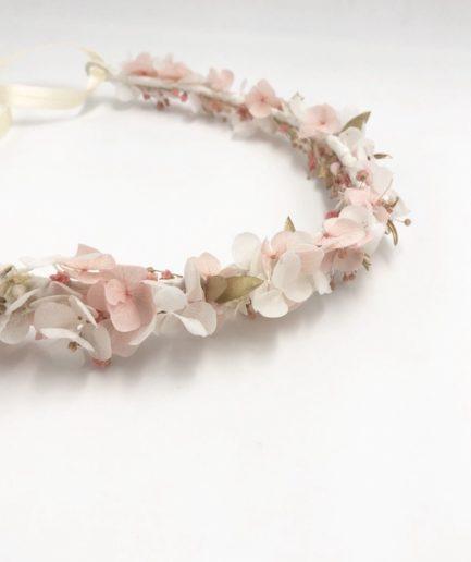 Couronne de fleurs Candi dorée pour la mariée romantique