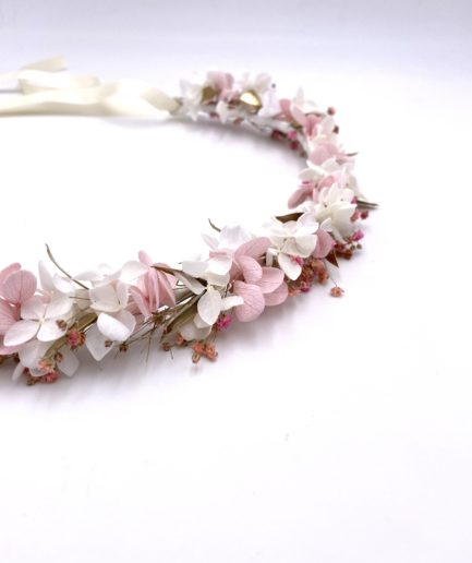 Couronne de fleurs Candi dorée pour la mariée