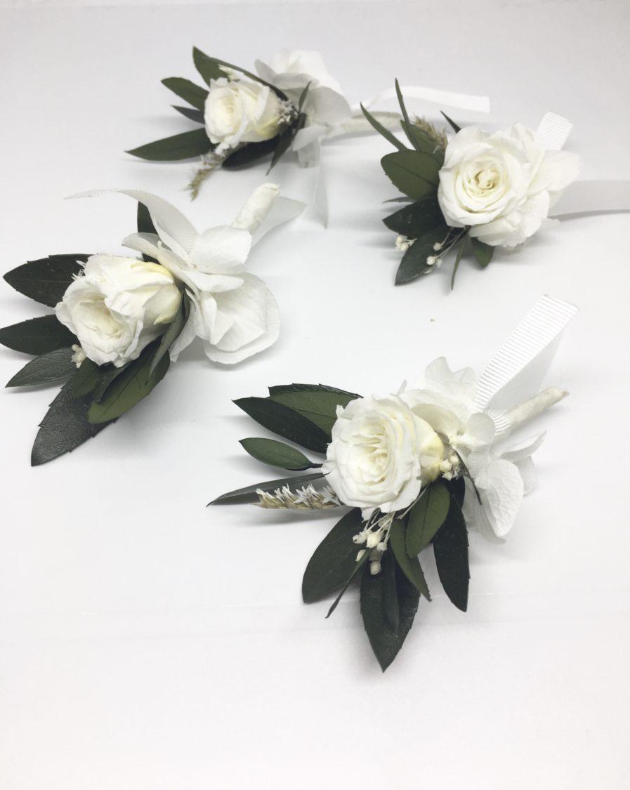 Boutonnière en fleurs stabilisées Elaia - les Fleurs Dupont