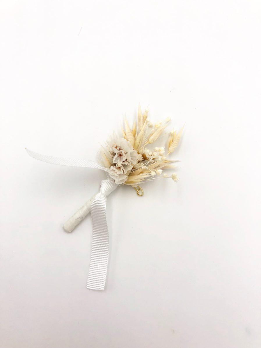 Boutonnière en fleurs Auguste