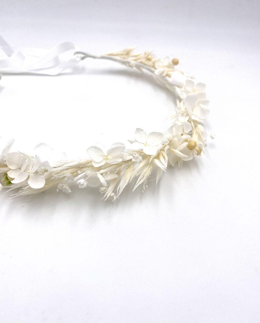 Couronne en fleurs séchées Auguste pour la mariée