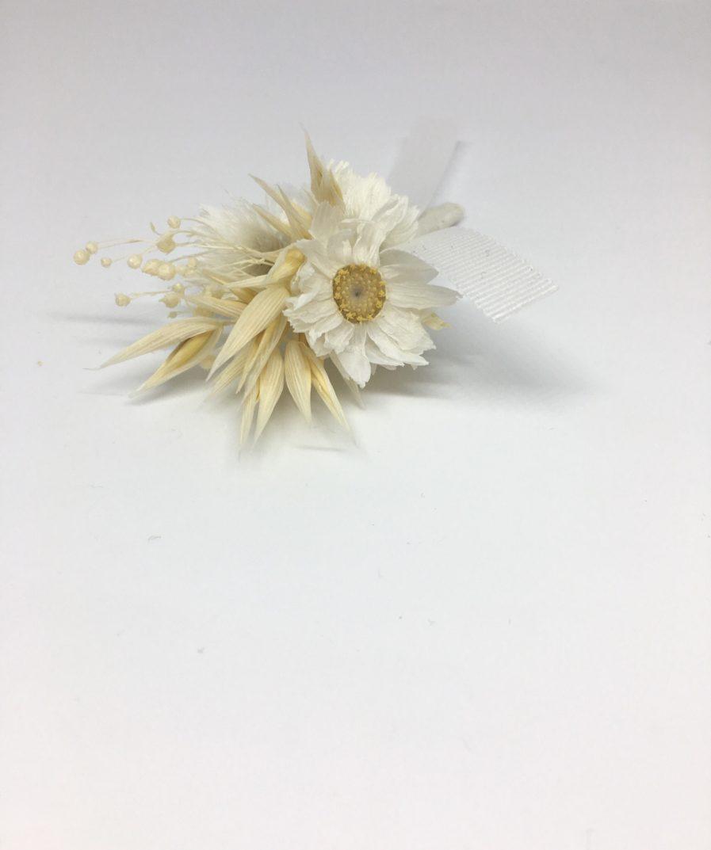 Boutonnière en fleurs séchées Auguste - les Fleurs Dupont