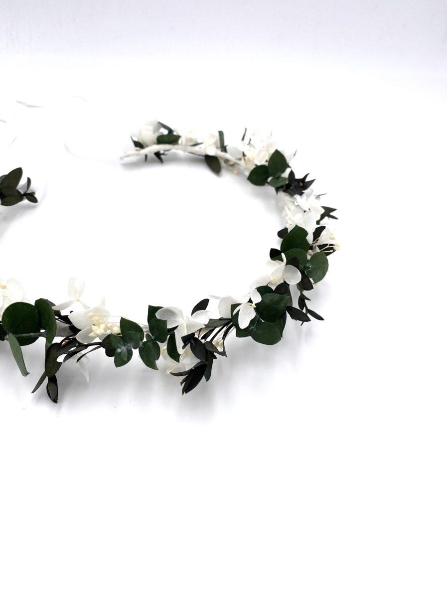 Couronne en fleurs stabilisées Foglia