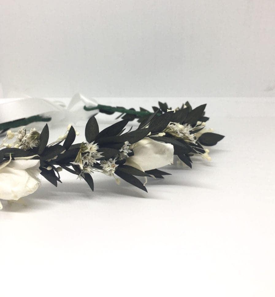 Couronne de fleurs séchées et stabilisées Foglia - Mariage chic et champêtre en 2019