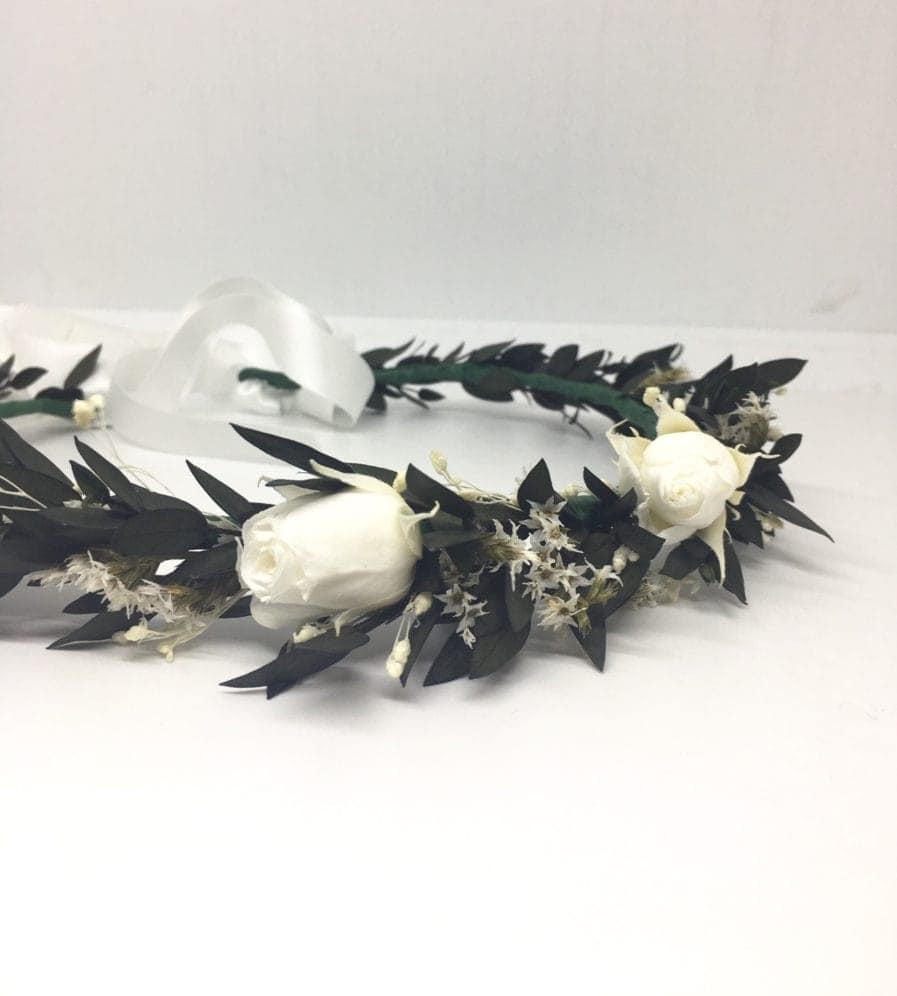 Couronne de fleurs séchées et stabilisées Foglia