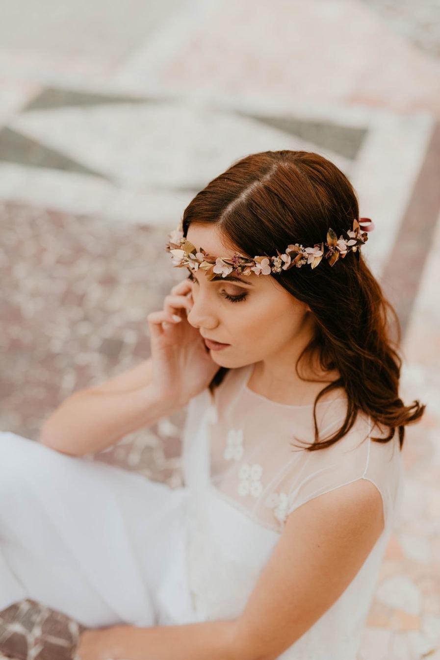 Couronne de fleurs Phyra - Anaïs Nannini - Les Fleurs Dupont - Mariage romantique