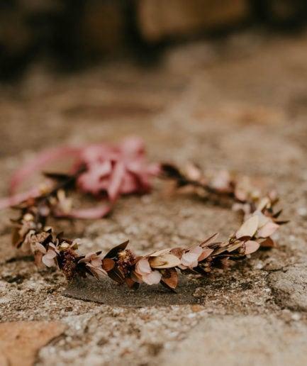 Couronne de fleurs Phyra - Anaïs Nannini - Les Fleurs Dupont Collection Orichalque