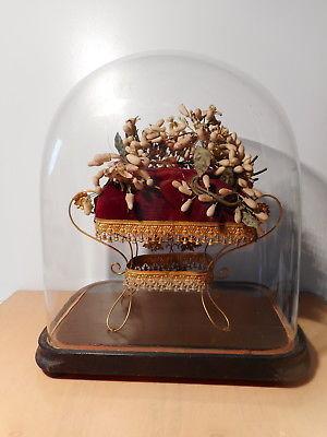 Couronne ancienne conservée dans une cloche en verre