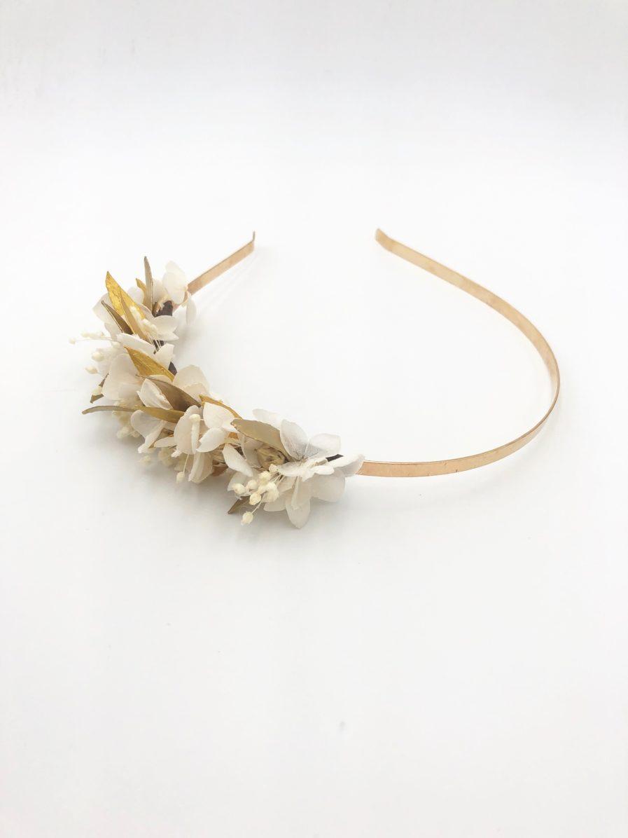Headband de feuilles dorées mini Ori