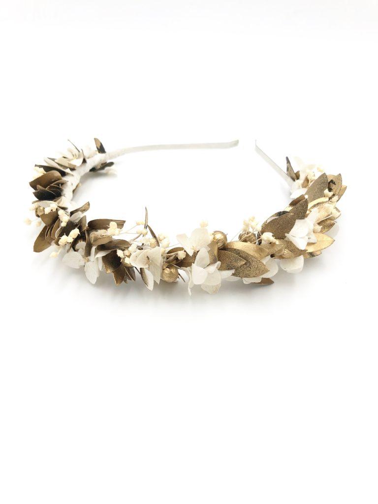 Headband de fleurs Ori - Les Fleurs Dupont - Collection Orichalque