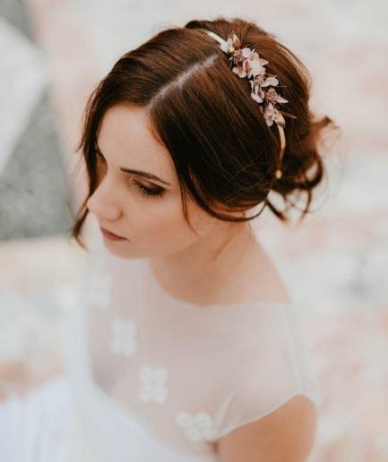 Headband de fleurs Phyra version Mini - Anaïs Nannini - Les Fleurs Dupont - gamme Phyra