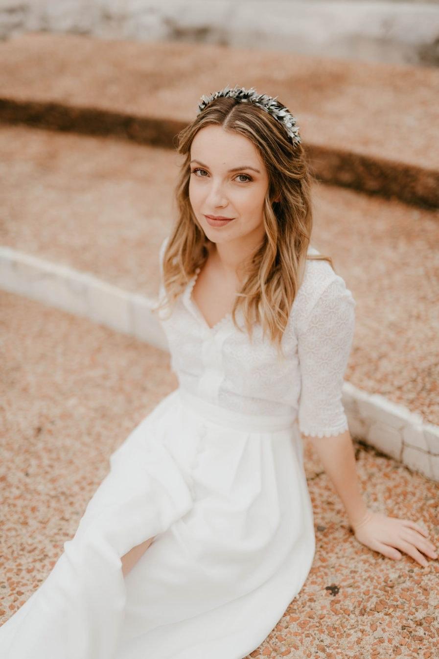 Headband de fleurs Turquin - Les Fleurs Dupont - Anaïs Nannini - Accessoire de mariage