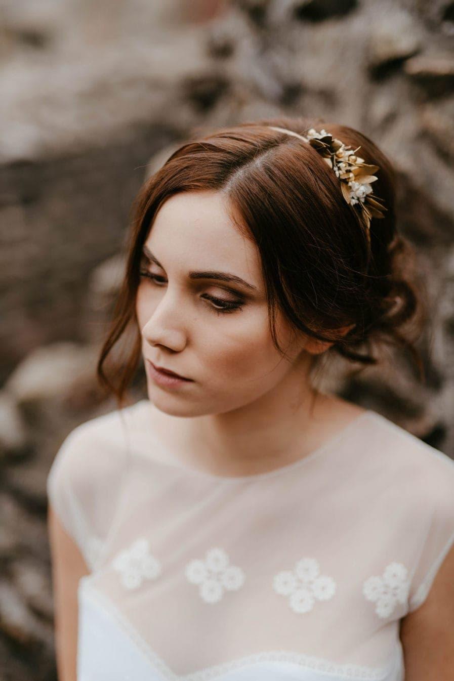 Headband de mariage Ori version Mini - Les Fleurs Dupont - Anaïs Nannini - Version mini et antique