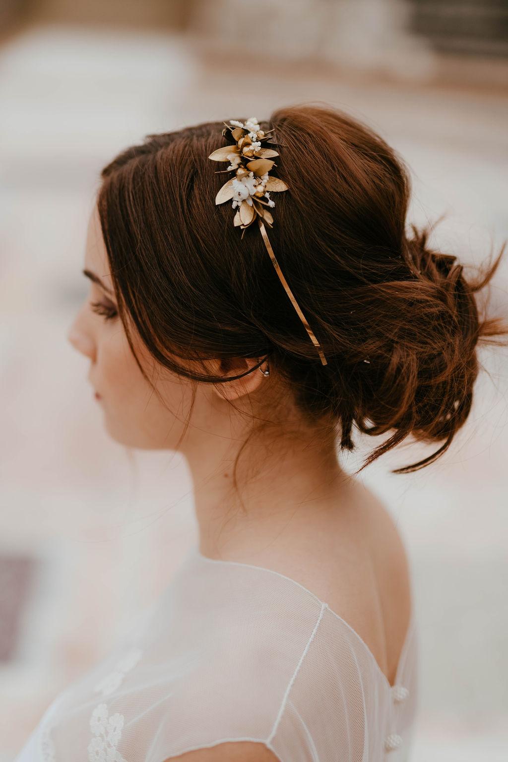 Headband de mariage Ori version Mini - Les Fleurs Dupont - Anaïs Nannini - Collection Orichalque