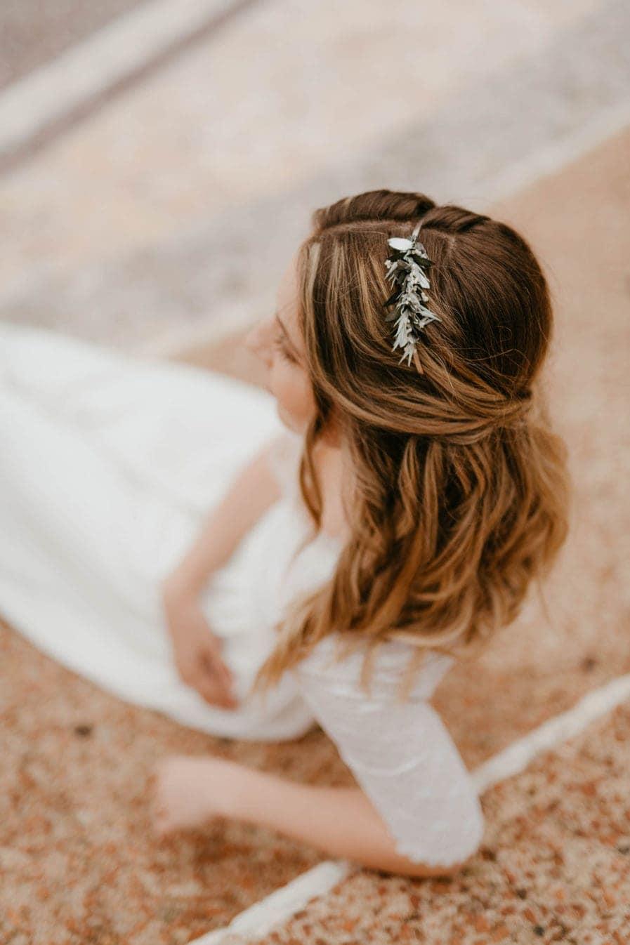 Headband de mariage Turquin version Mini - Les Fleurs Dupont - Anaïs Nannini Photographie - Mariage en fleurs séchées