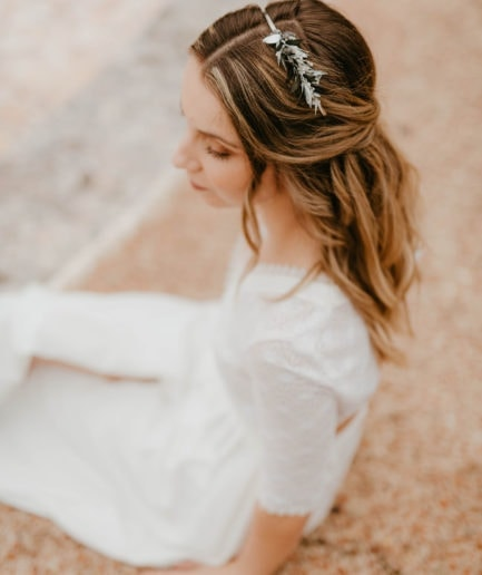 Headband de mariage Turquin version Mini - Les Fleurs Dupont - Anaïs Nannini Photographie de mariage
