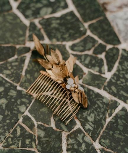 Peigne de fleurs Ori version Antique - Anaïs Nannini - Les Fleurs Dupont - Accessoire de cheveux pour la mariée