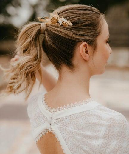 Peigne de fleurs Ori version Antique - Anaïs Nannini - Les Fleurs Dupont - Mariée chic et élégante