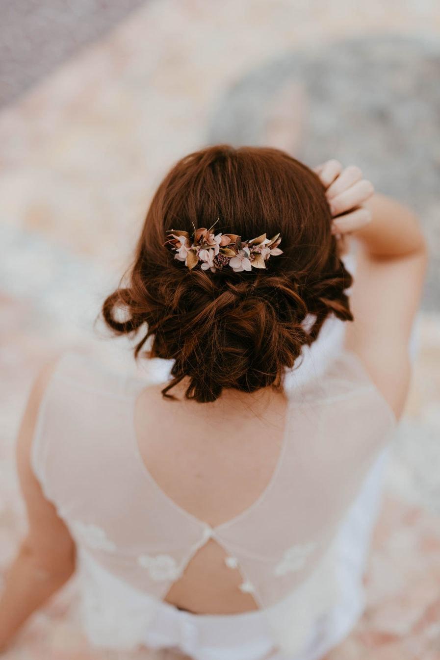 Peigne de fleurs Phyra - Les Fleurs Dupont - Anaïs Nannini - Accessoire en fleurs séchées