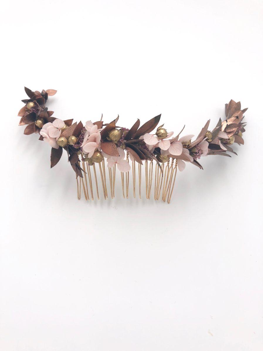 Peigne de fleurs Phyra Long - fleurs séchées et stabilisées
