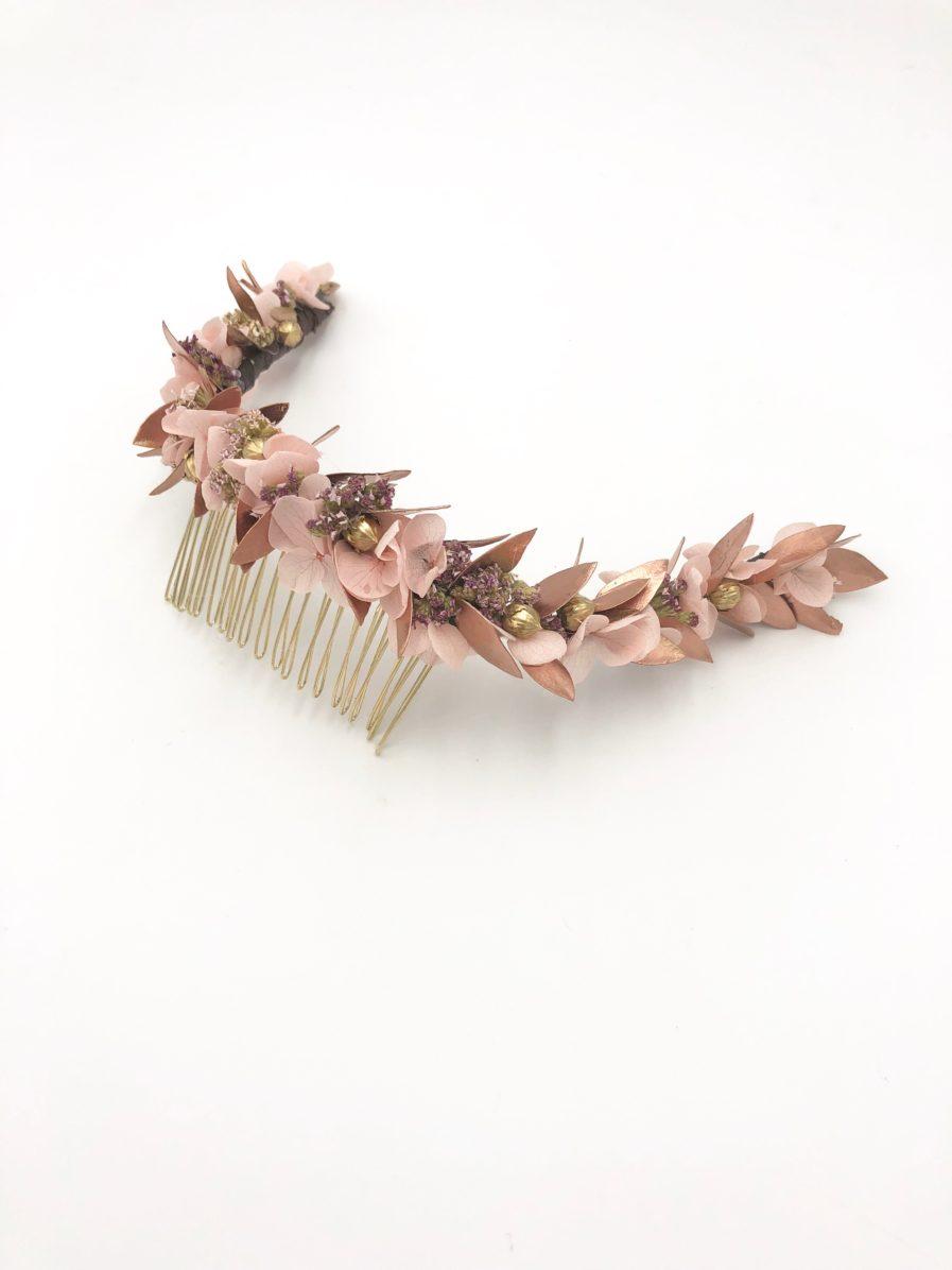 Peigne de fleurs cuivrées Phyra - Les Fleurs Dupont