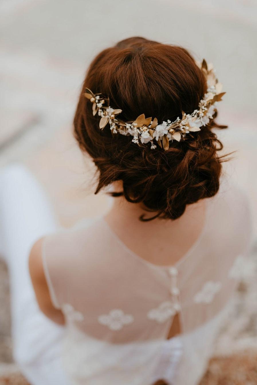 Peigne de mariée Ori long - Anaïs Nannini Photographe - Les Fleurs Dupont