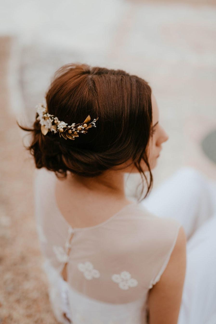 Peigne de mariée Ori long - Anaïs Nannini Photographie - Les Fleurs Dupont - Mariage chic et mode