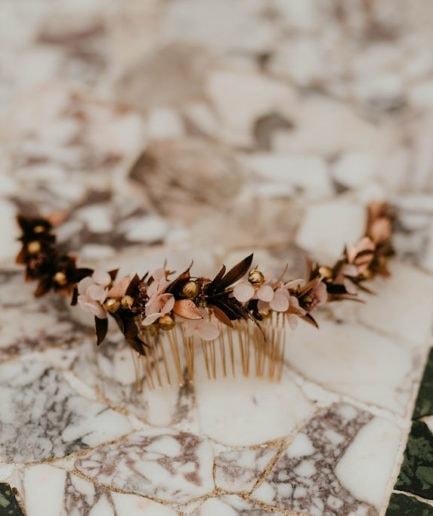 Peigne de mariée Phyra long - Les Fleurs Dupont - Anaïs Nannini Photographe
