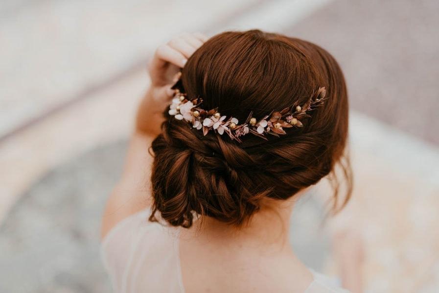 Peigne de mariée Phyra long - Les Fleurs Dupont - Anaïs Nannini Photographie