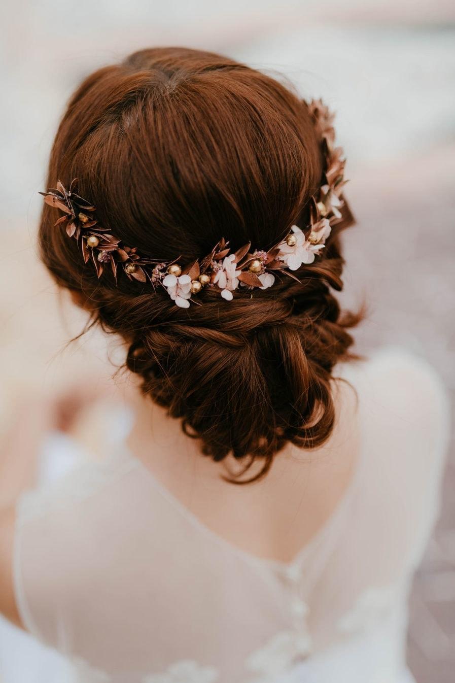 Peigne de mariée Phyra long - Les Fleurs Dupont - Anaïs Nannini - mariage 2019