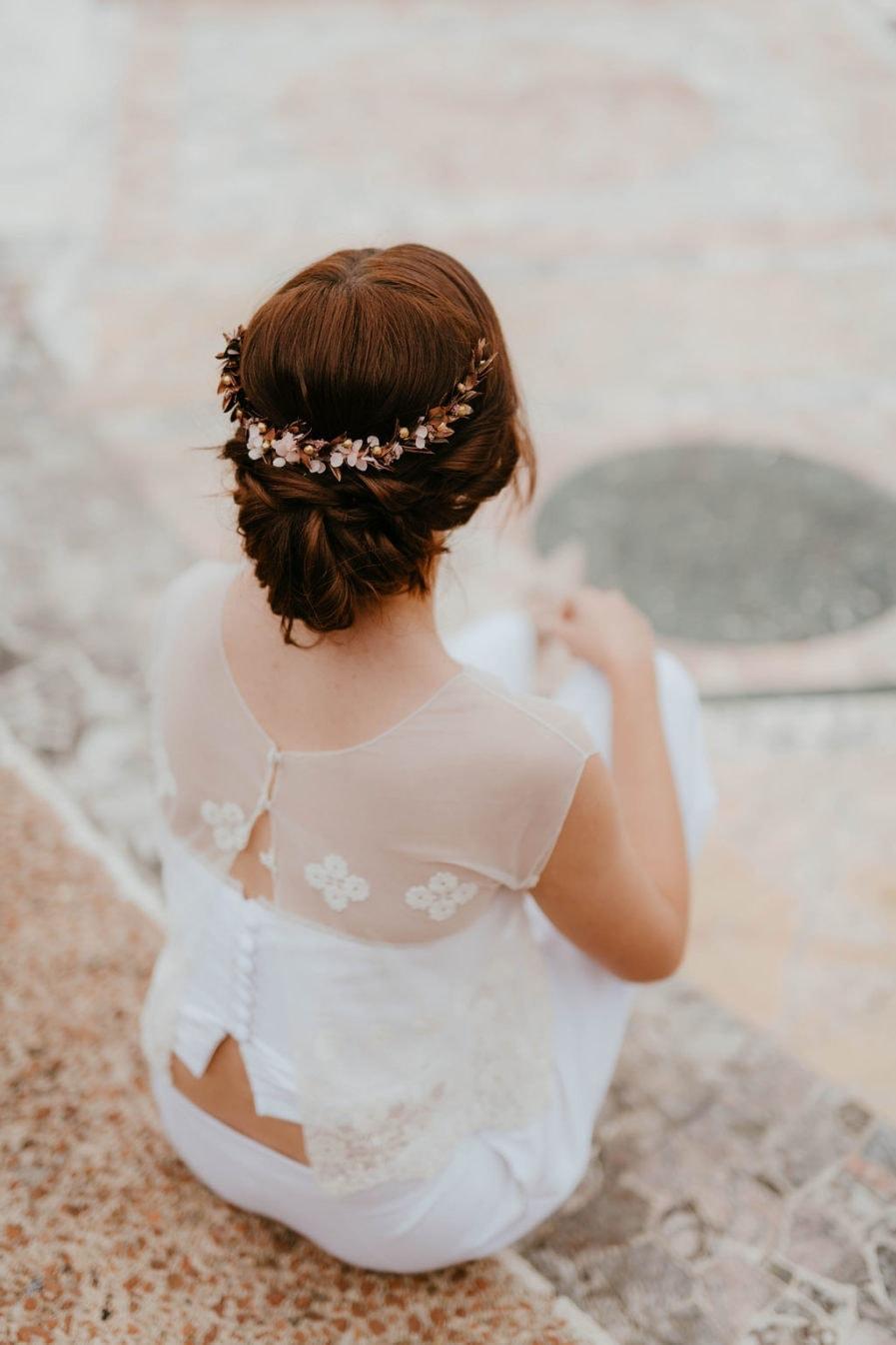 Peigne de mariée Phyra long - Les Fleurs Dupont - Anaïs Nannini Photo