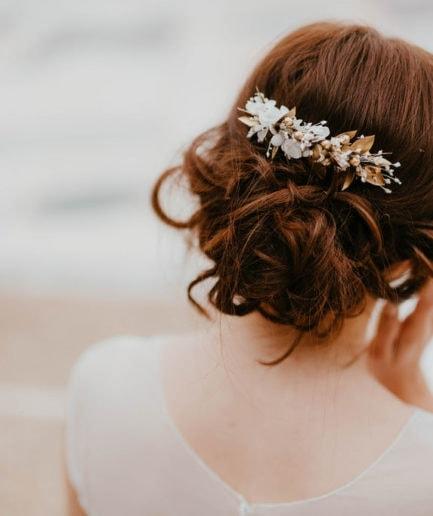 Peigne de mariage Ori - Les Fleurs Dupont - Anaïs Nannini Photographie