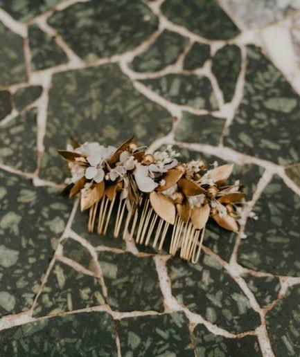 Peigne de mariage Ori Collection Orichalque- Les Fleurs Dupont - Anaïs Nannini