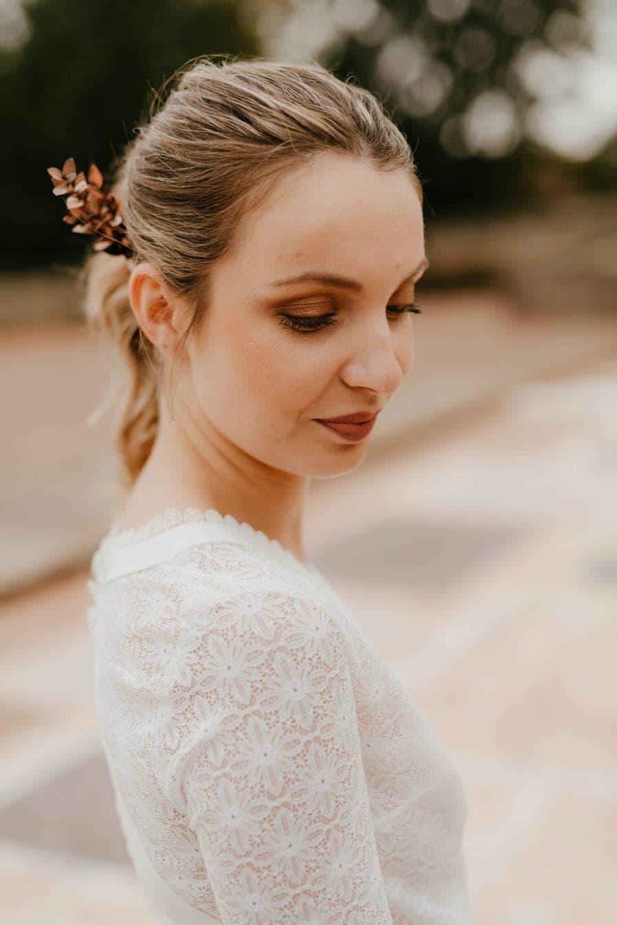 Peigne de mariage Phyra version Antique - Anaïs Nannini - Les Fleurs Dupont - Gamme Phyra