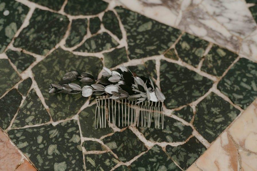 Peigne de mariage Turquin version antique - Les Fleurs Dupont - Anaïs Nannini Photographie