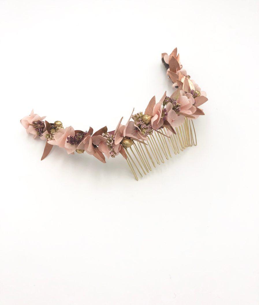 peigne de fleurs séchées et stabilisées Phyra - Les Fleurs Dupont