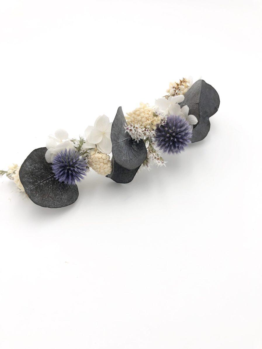 Barrette de mariage Céleste - Les Fleurs Dupont - Fleurs séchées françaises