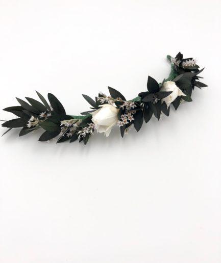 Barrette de mariage Foglia en fleurs stabilisées
