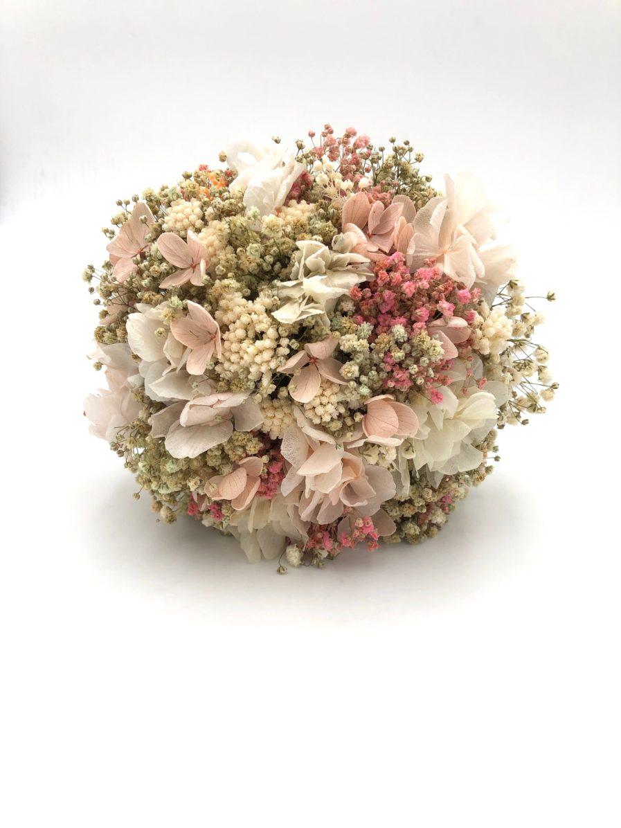 Bouquet de la mariée Candi en fleurs séchées et stabilisées roses