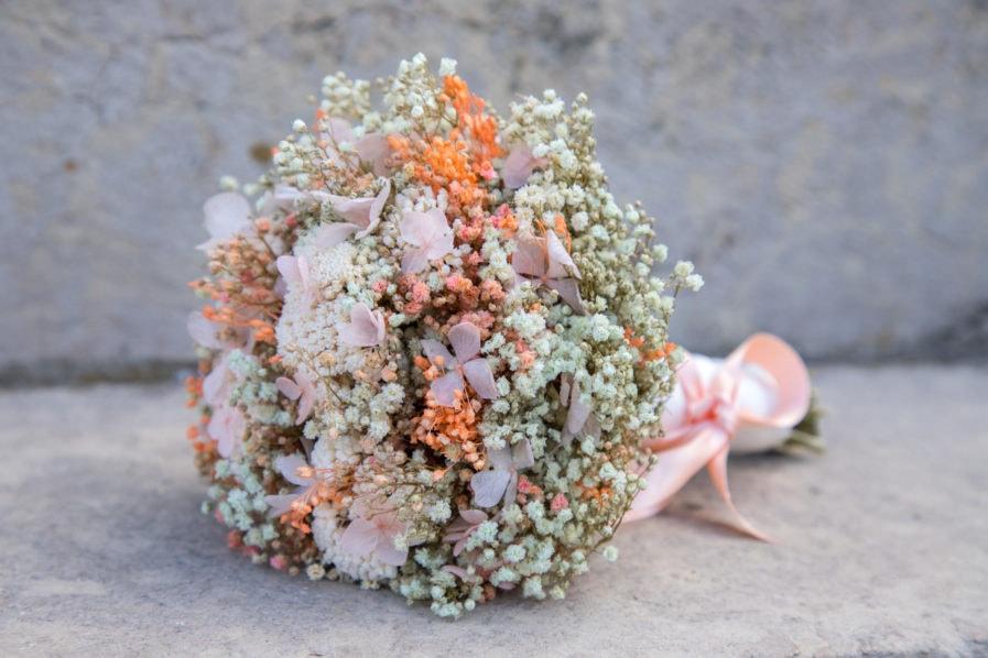 Bouquet de la mariée Candi en fleurs stabilisées - les Fleurs Dupont