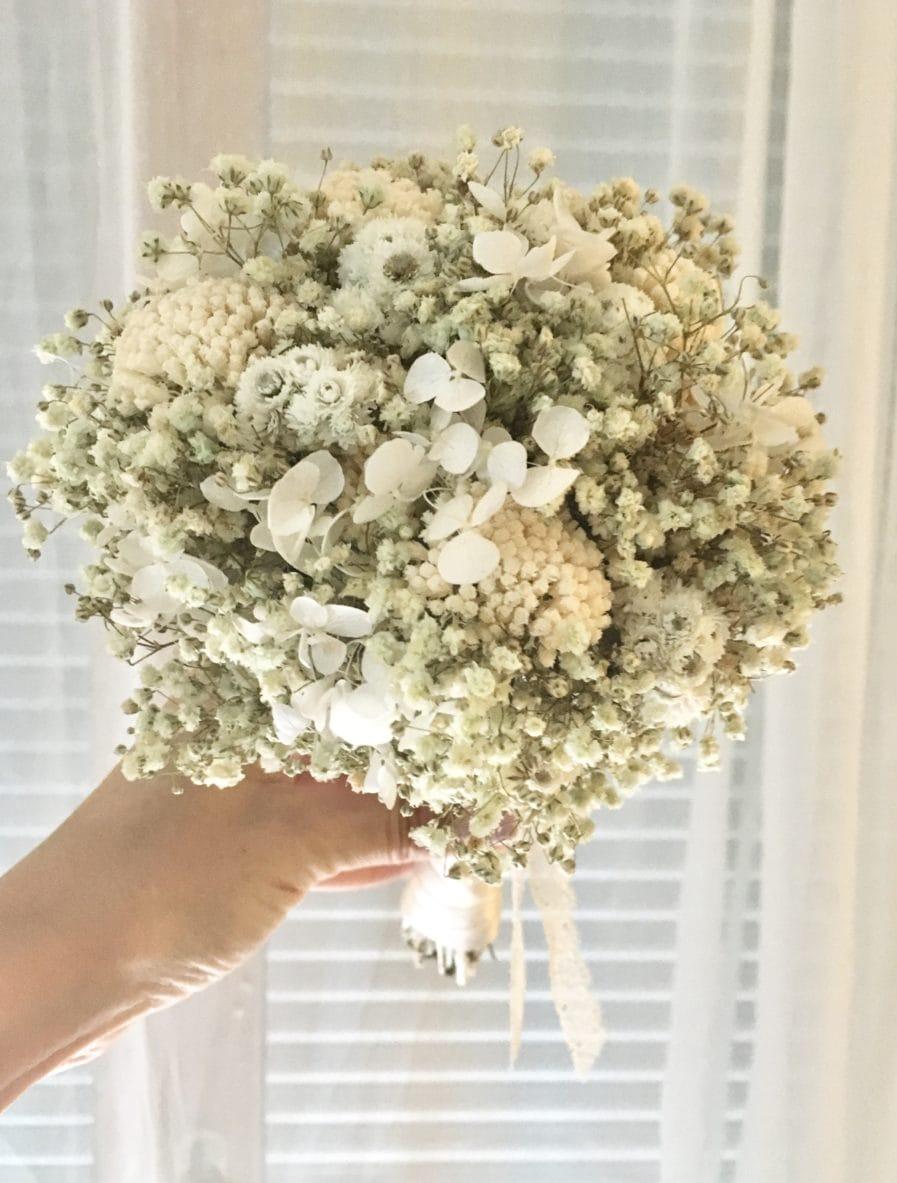 Bouquet de la mariée Immortelle - Les Fleurs Dupont - Mariages élégants