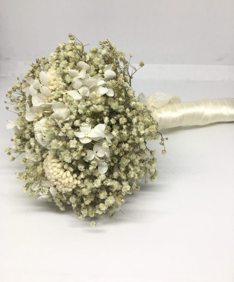 Bouquet de la mariée Immortelle en fleurs séchées et stabilisées